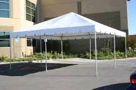 Where to find TENT, 20  X 20  WHITE FRAME in Fairmont
