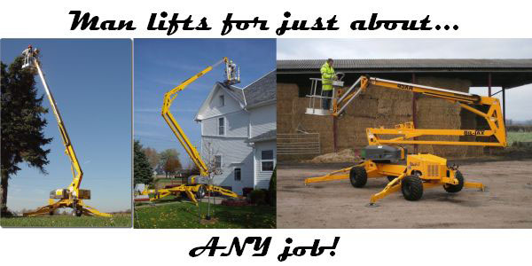 Aerial work platform rentals in Fairmont MN, Southern Minnesota and Northern Iowa